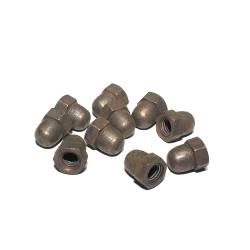 M5 Solid Brass Hex Dome Nuts Antique Finish Packets of 10